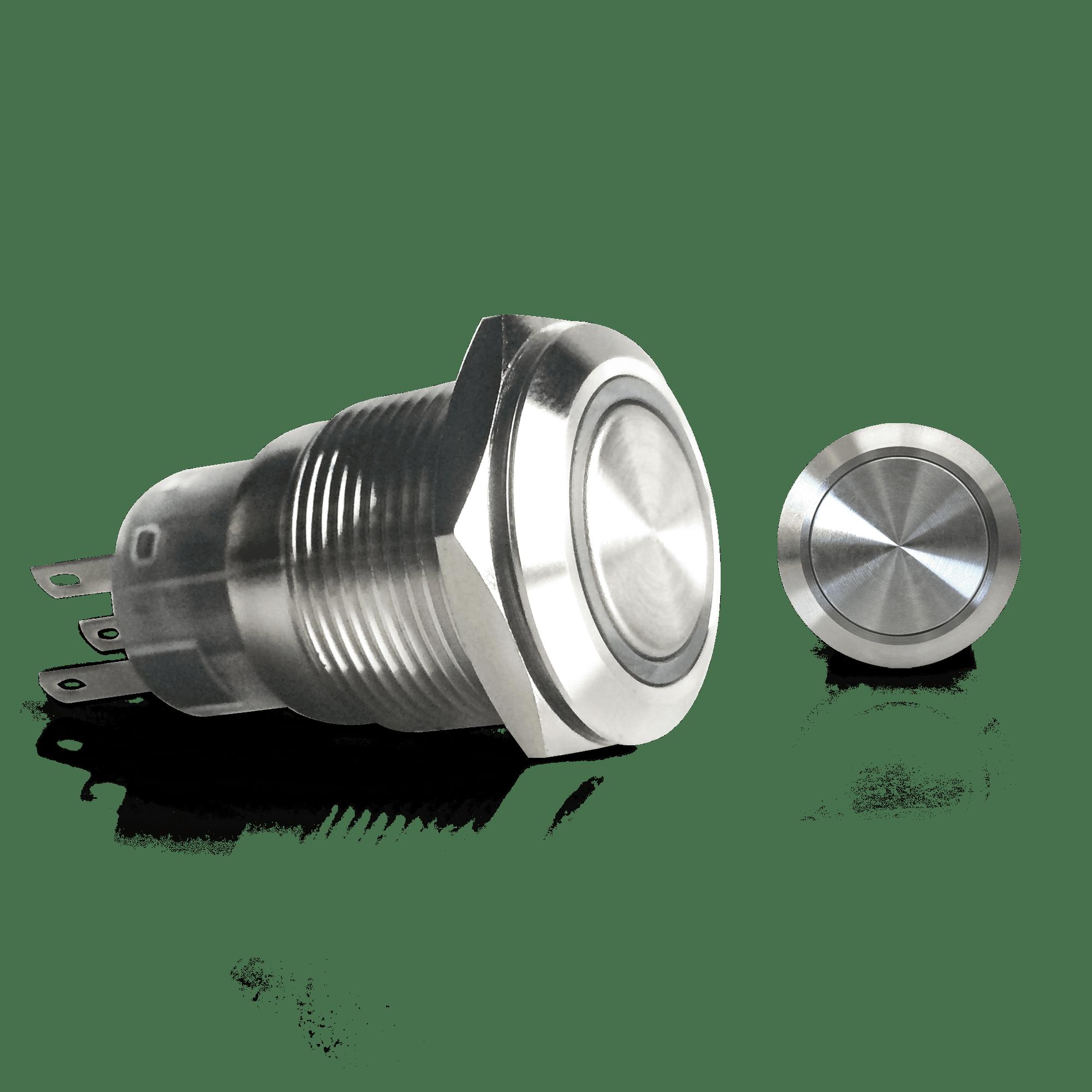 AutoLoc 19mm Latching Billet Button  W/out Illumination