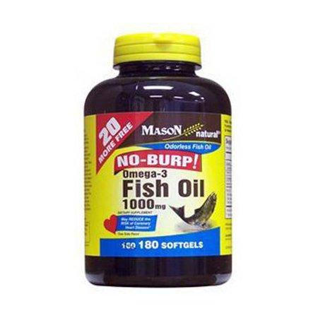 Mason natural fish oil omega 3 1000 mg no burp softgels for Omega 3 fish oil walmart
