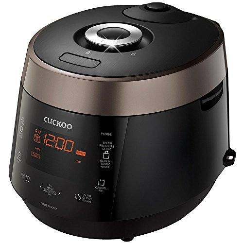 Cuckoo CRP-P1009S 10 Cups Electric Pressure Rice Cooker, 120v, Black