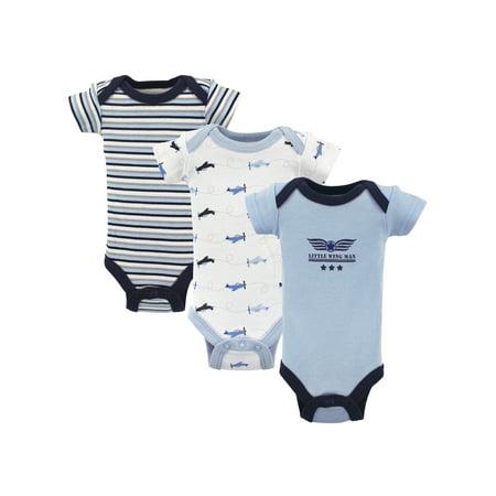 f0411ccb4e8 Preemie Baby Boy Bodysuits, 3-pack - Walmart.com