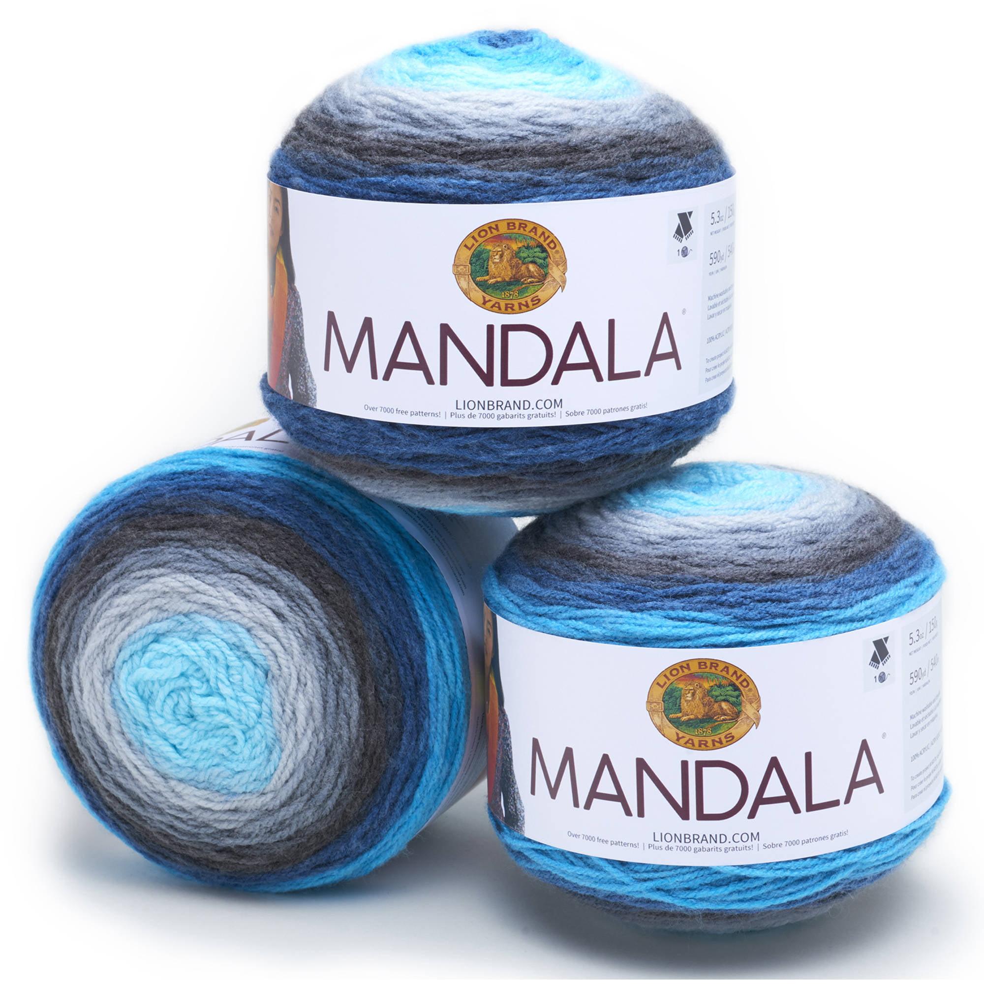 Lion Brand Yarn Mandala Classic Novelty Yarn, Pack of 3