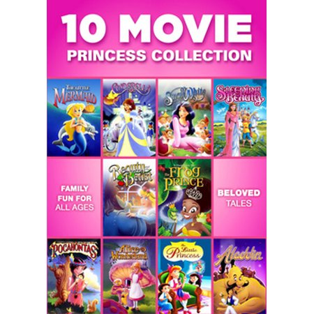 10 Movie Princess Collection (DVD) (List Of Halloween Movies For Kids)