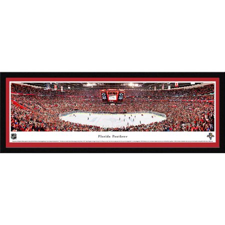 Florida Panthers Center Ice at BB&T Center Blakeway Panoramas NHL Print with Select Frame and Single Mat by