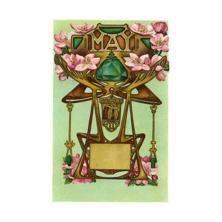 Art Nouveau May, Gemini Print Wall Art By Found Image - Gemini Crystal Wall
