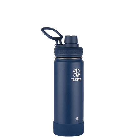 Takeya 18oz Actives Insulated Stainless Steel Water Bottle with Spout Lid - Navy