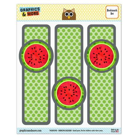 Watermelon Glossy Laminated Bookmarks   Set Of 3