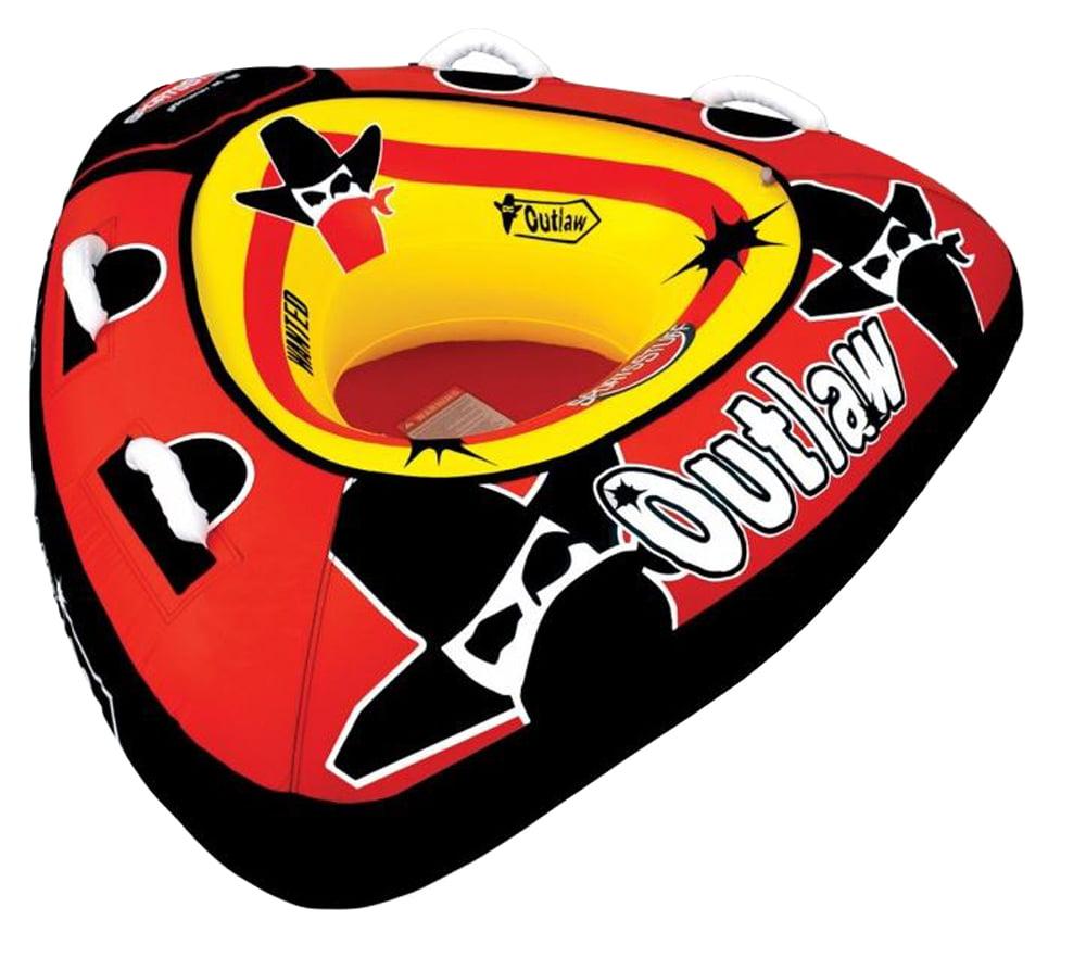 """SPORTSSTUFF 53-1126 Outlaw 48"""" Single Rider Boat Towable + 50' 60' Tube Rope by Kwik Tek"""