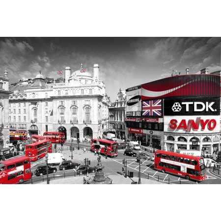 London Piccadilly Circus Laminated Poster (24 x 36)