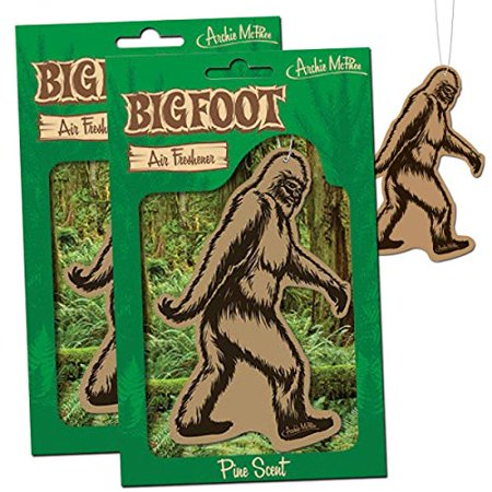 BIGFOOT Air Freshener - 2 Pack Pine Scent - For Car RV Trailer Tent - Best Yeti Sasquatch Bigfoot (Best Car Freshener For Smokers)