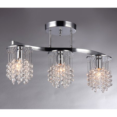 - Warehouse of Tiffany Clee Chrome Crystal Chandelier
