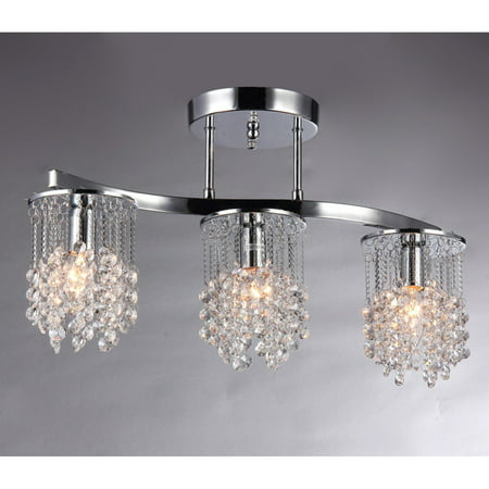 - Clee 3-light Chrome 20-inch Crystal Chandelier
