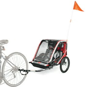 Allen Sports Deluxe Steel 2-Child Bicycle Trailer, T2 Red