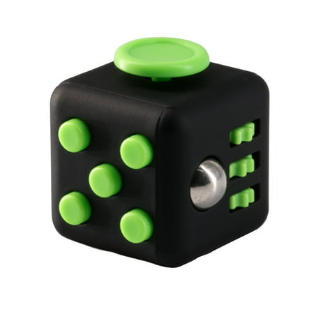 Fidget Toy Cube Stress Anxiety Relief Desk Relief 6 Sided For Adults Kids