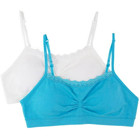 94a359bf785 Fruit of the Loom - Girls  Santoni Bras With Lace 2 Pack - Walmart.com