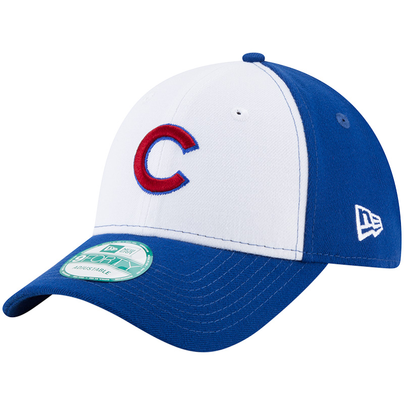 Chicago Cubs New Era The League Team 9FORTY Adjustable Hat - White/Royal - OSFA
