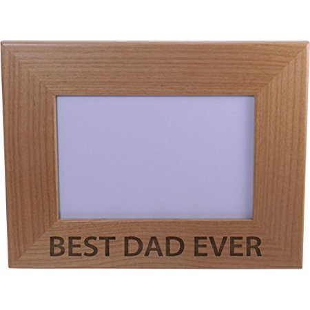 best dad ever 4x6 inch wood picture frame great gift for fathers day birthday or - Best Dad Christmas Gifts