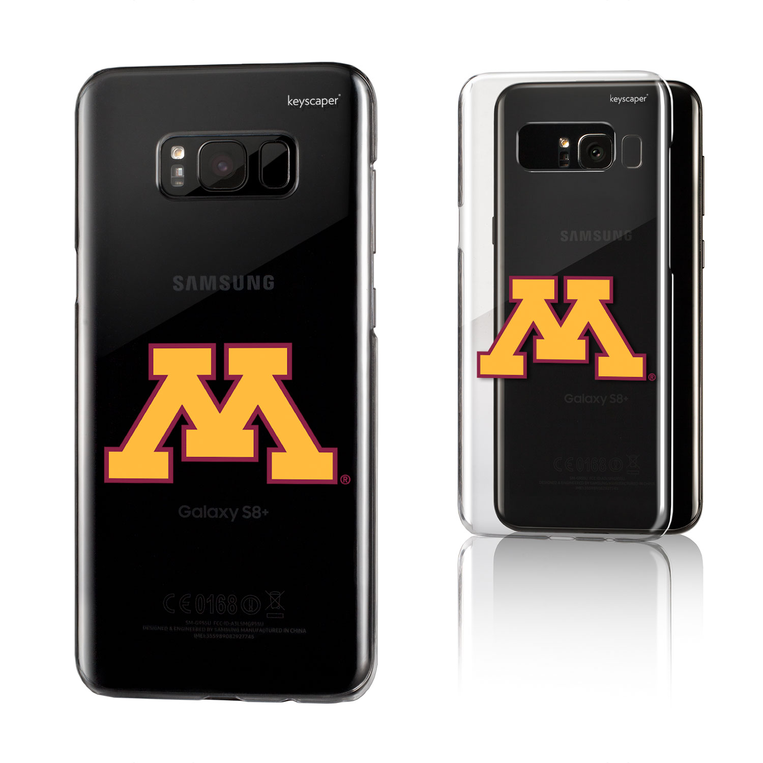Minnesota Golden Gophers Golden Gophers Insignia Clear Case for Galaxy 8+