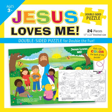 Jesus Loves Me Double-Sided Puzzle - Jesus Love Me