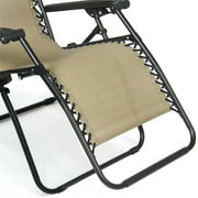 Folding Zero Gravity Recliner Lounge Chair With Canopy Shade Magazine Cup Holder Image 5 Of