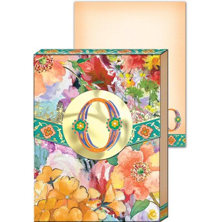 Everyday Wildflowers Monogram Mini Pocket Note Pad  Letter O   These Beautifully Designed Note Pads Are Perfect To Carry Around With You Or    By Punch Studio
