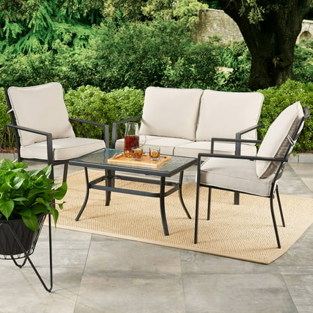 Awesome Mainstays Richmond Hills 4 Piece Patio Loveseat Set With Ocoug Best Dining Table And Chair Ideas Images Ocougorg