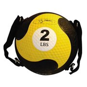2-Pound Yellow FitBALL w Adjustable & Removable Straps