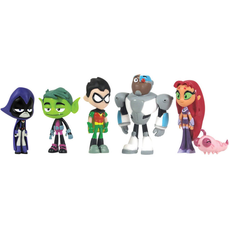 "Teen Titans Deluxe 6-Pack 2"" Mini Figures by"