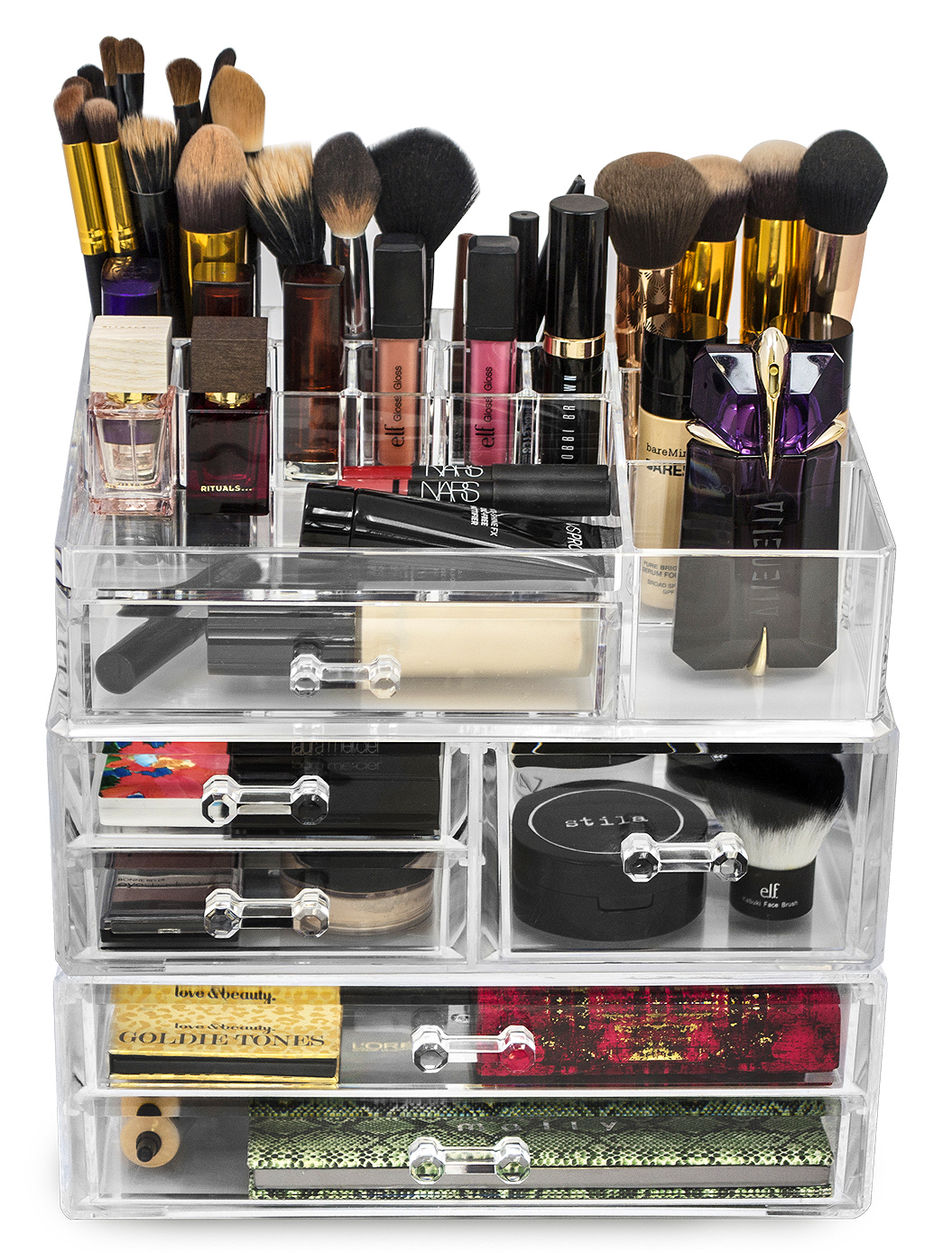 Superbe Sorbus Acrylic Cosmetics Makeup And Jewelry Storage Case Display Sets    Interlocking Drawers To Create Your