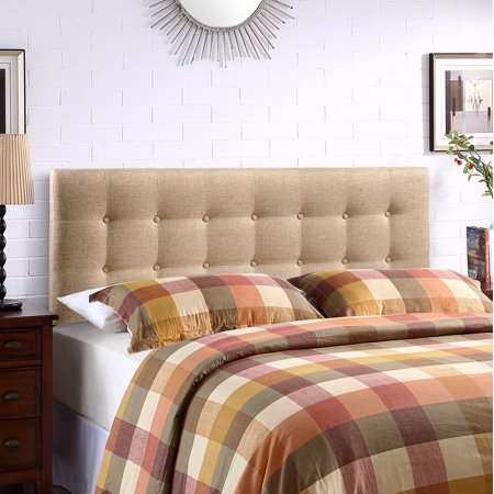 Modway Emily Tufted Button Headboard, Multiple Sizes and Colors - Full Size Upholstered Headboard