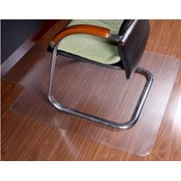 """ProSource 36"""" x 48"""" Clear Multitask Office Chair Floor Mat for Hardwood Floors with Lip"""