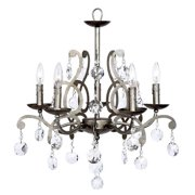 5-Light Elegance Chandelier with Custom Crystals