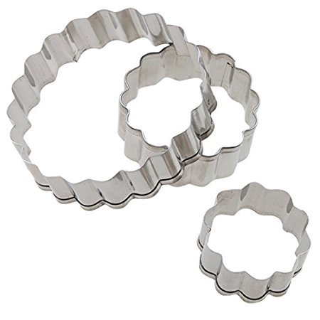 AGPtek 3PCS Stainless Steel Cookie Cutters Cake Mold Pastry Cutter - Carnation Shapes