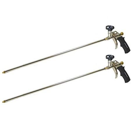 2 Pack - Professional Spray Foam Gun, 2 ft Long Nozzle , (Professional Foam Gun)