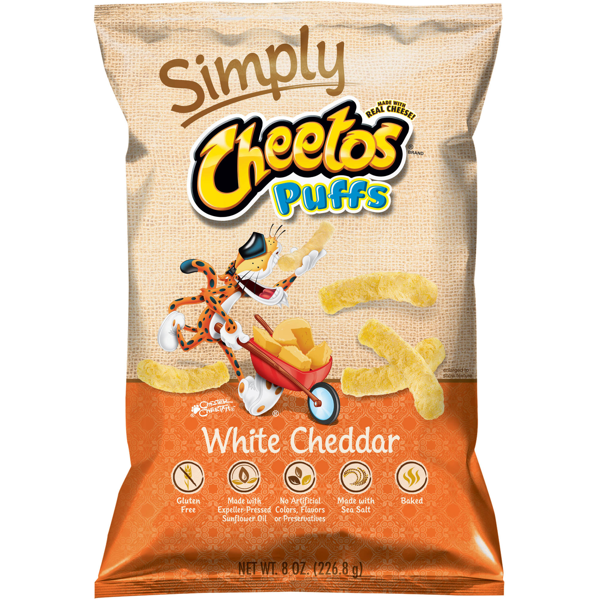 Simply Cheetos Puffs White Cheddar Cheese Flavored Snacks, 8 oz.
