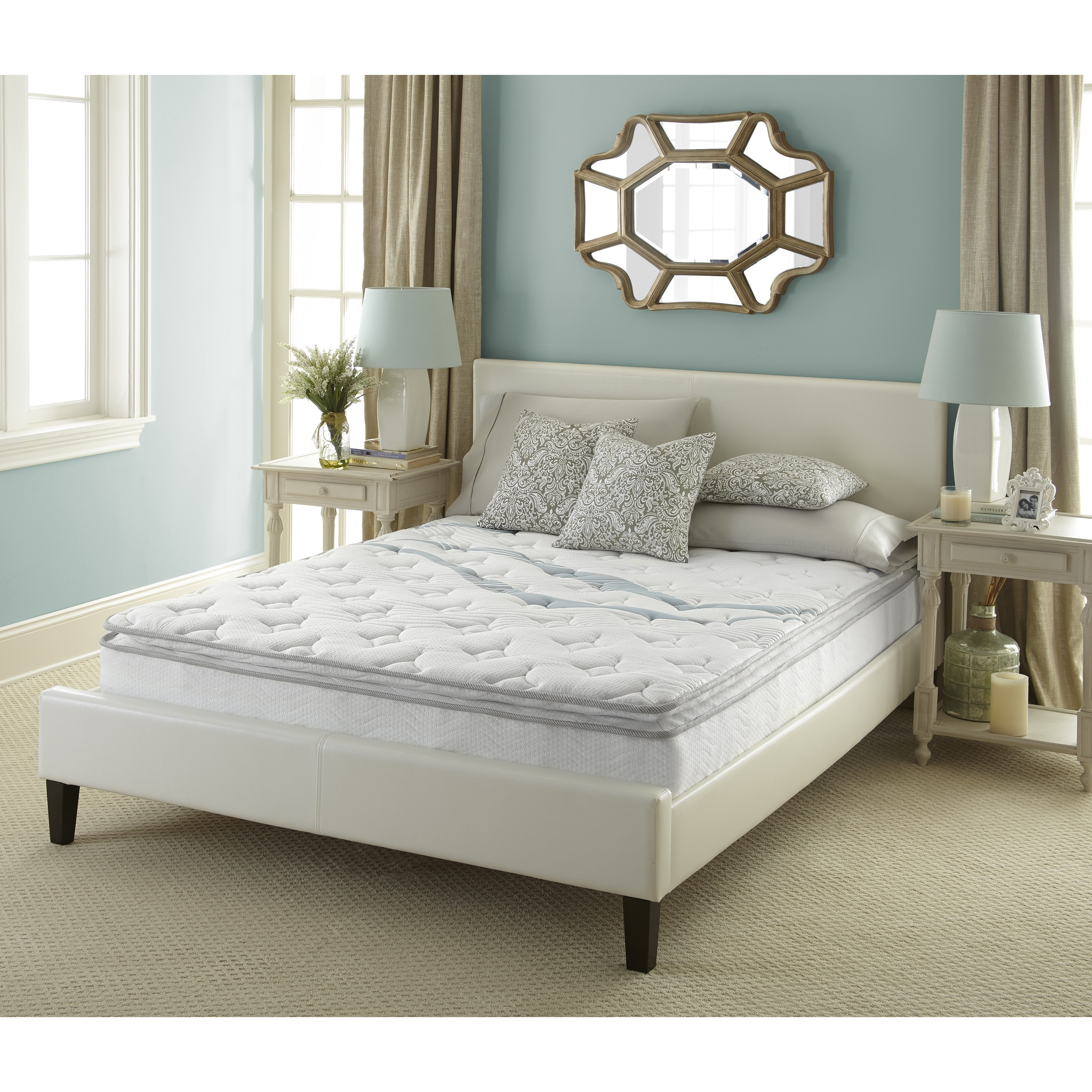 Sleep Sync  Euro Top 10-inch Cal King-size Mattress