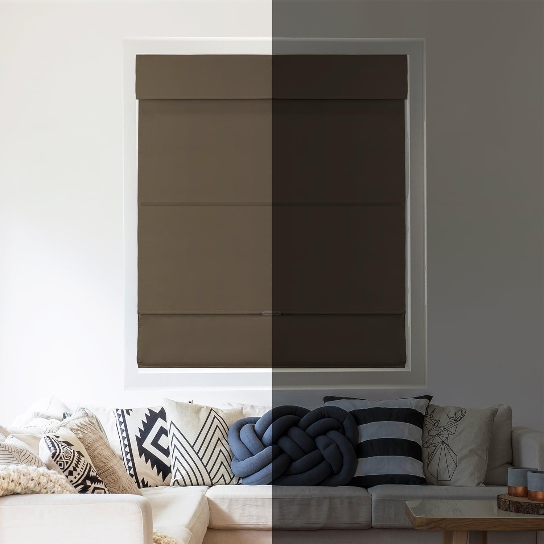 Chicology Cordless Magnetic Roman Shades // Window Blind Fabric Curtain Drape Room Darkening Function 23W X 64H Commodore Blue