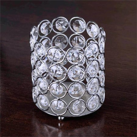 BalsaCircle 4-Inch tall Tealight Votive Crystal Candle Holder - Wedding Party Table Home Dining Decorations Centerpieces