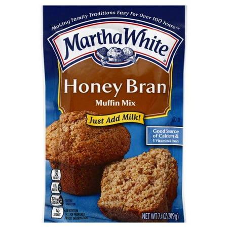 (3 Pack) Martha White Honey Bran Muffin Mix, (Best Honey Bran Muffin Recipe)