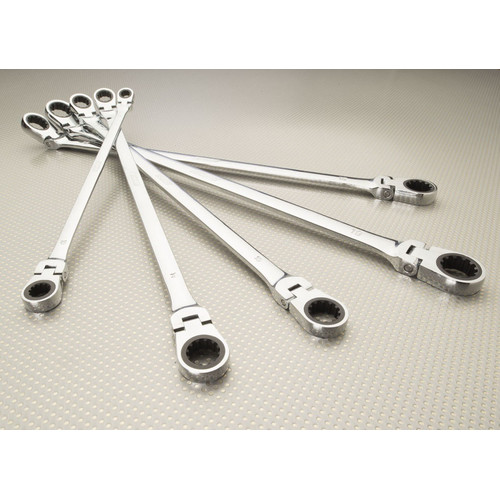 Ez Red EZR-NR5M 5 Pc. Metric Flexible Ratcheting Wrench Set