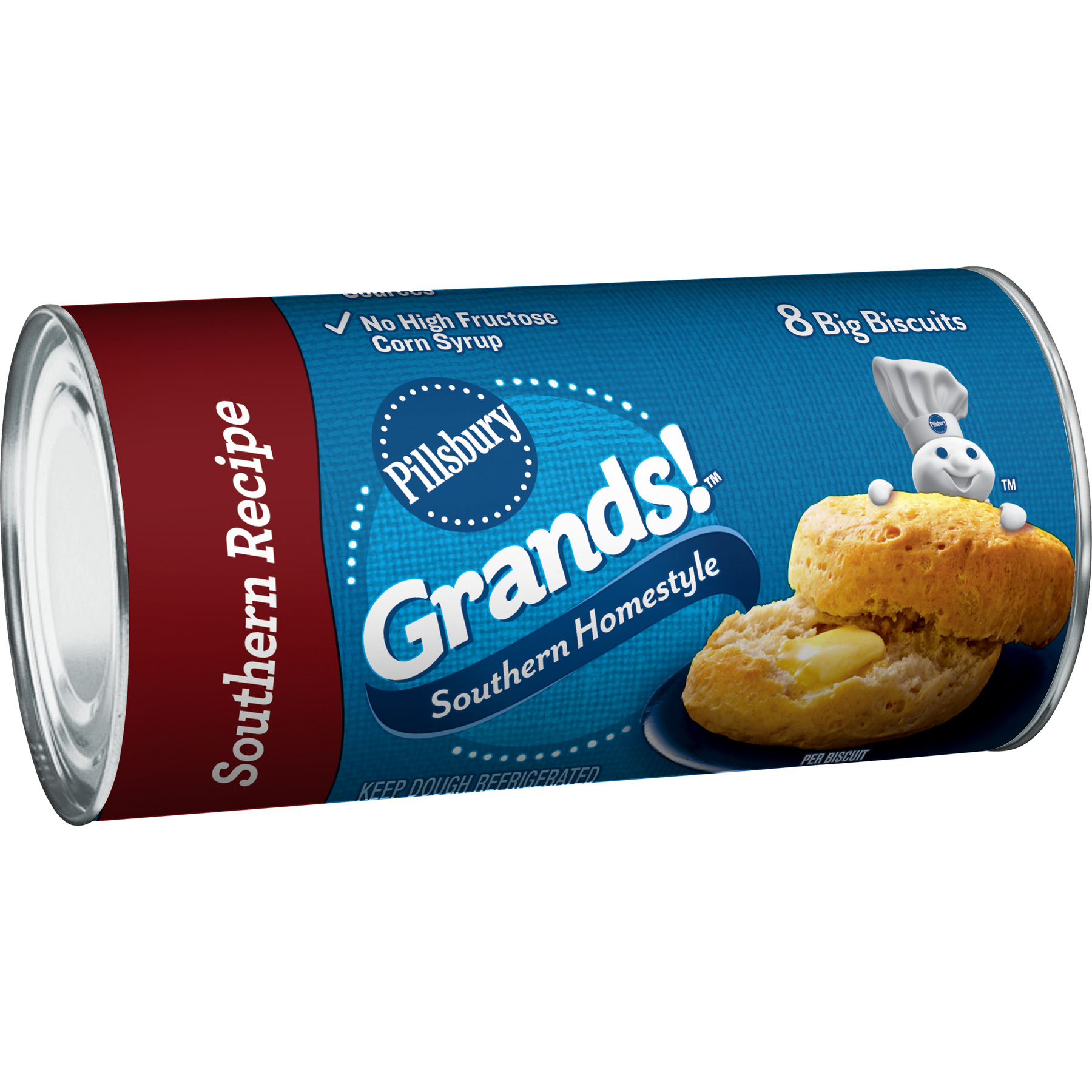 Pillsbury Grands! Southern Homestyle Biscuits,16.3 Oz., 8 Count ...