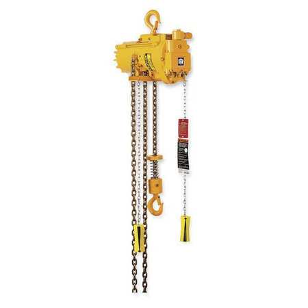 INGERSOLL RAND ML500K-2C10-C6 Air Chain Hoist,1100 lb. Cap.,10 ft. Lft