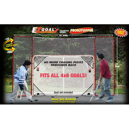 EZgoal Monster Hockey Puckstopper Backstop Rebounder and 4 Targets (Hockey Target)