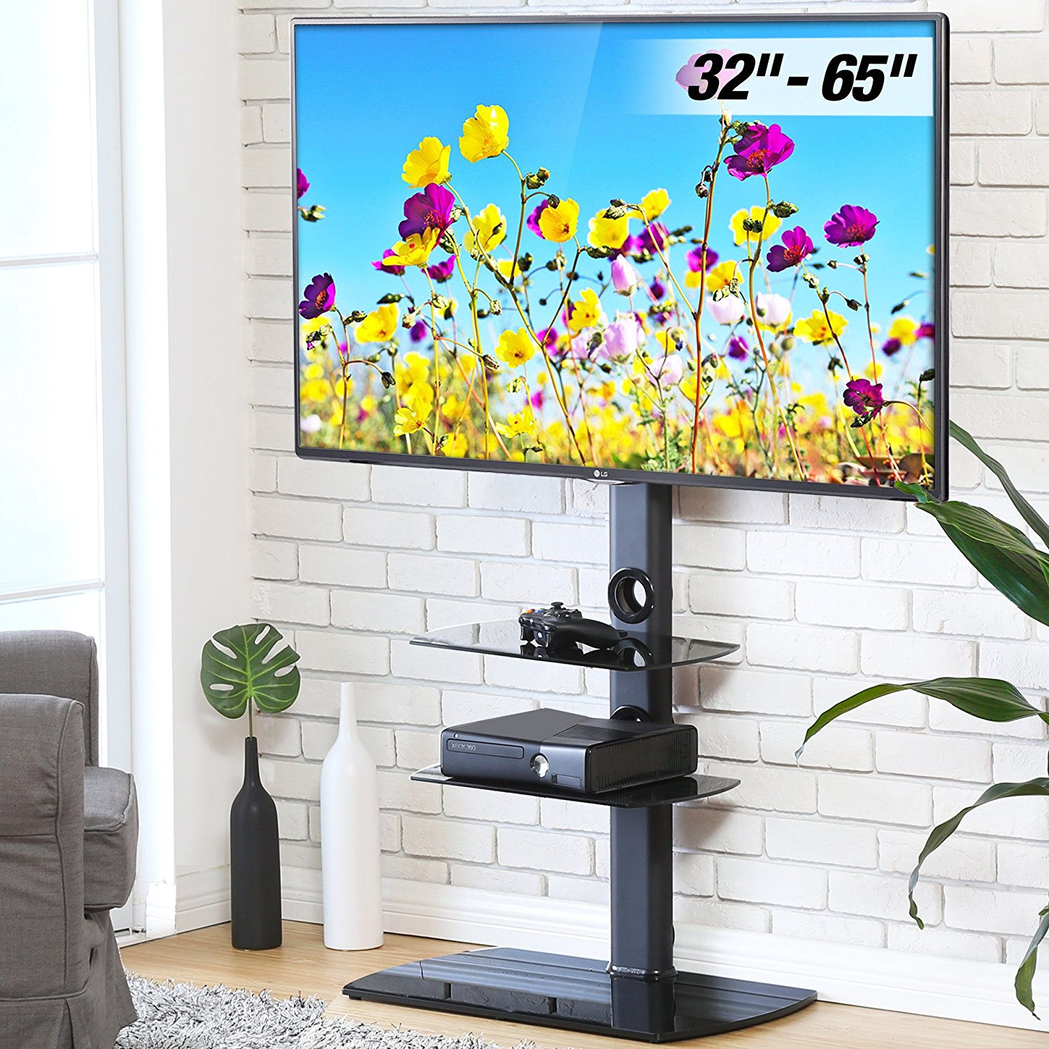 FITUEYES Floor TV Stand with Swivel Mount for 32 to 65 inch TVs TT306501GB