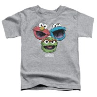 Sesame Street - Halftone Heads - Toddler Short Sleeve Shirt - 4T