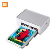 Xiaomi Mijia HD Instant Photo Printer Mini Household Thermal Sublimation Printer Full Color Print 4x6 Inch 300dpi WiFi Connection Auto Lamination Compatible with Windows Mac Android iOS