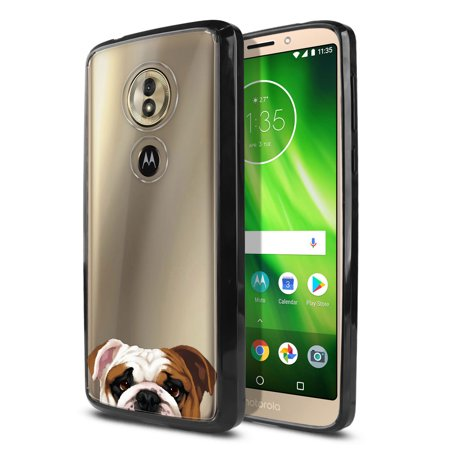 FINCIBO Slim TPU Bumper + Clear Hard Back Cover for Motorola Moto G6 Play 5.7