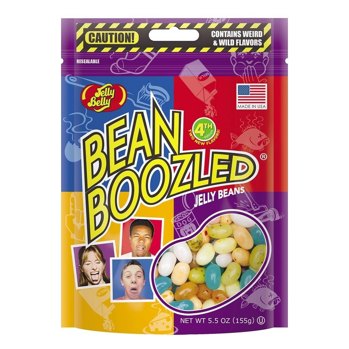 Jelly Belly BeanBoozled Jelly Beans 5.5 oz Pouch bag (4th edition) by Jelly Belly