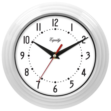 Equity By La Crosse 8  White Analog Wall Clock