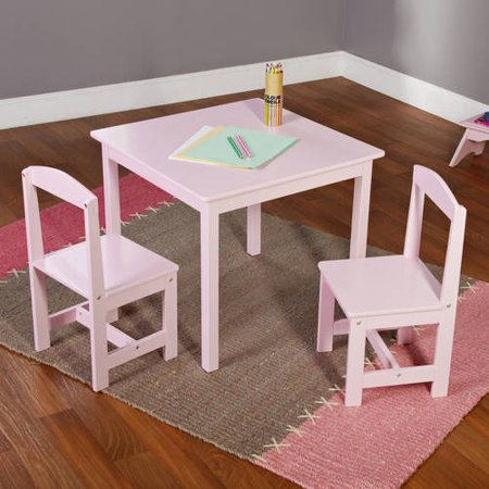hayden kids 3 piece table and chair set multiple colors. Black Bedroom Furniture Sets. Home Design Ideas