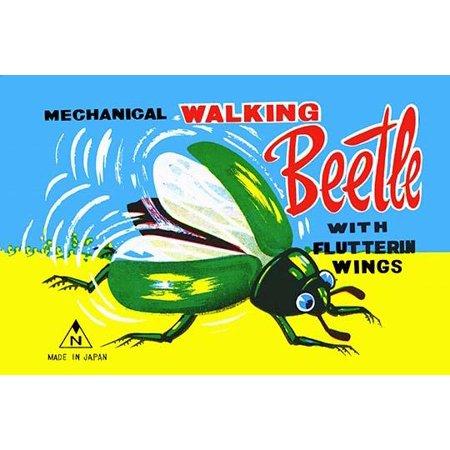 "Mechanical Walking Beetle- Fine Art Canvas Print (20"" x 30"")"